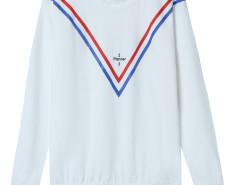 White Stripe And Letter Print Long Sleeve Sweatshirt Choies.com online fashion store United Kingdom Europe