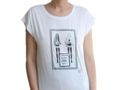 White Tee LauraGalasso - Limited edition Carnet de Mode online fashion store Europe France