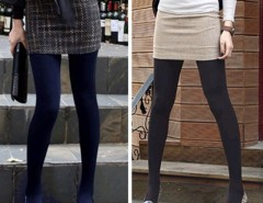 Winter Fashion Slim Fleece Tights Pantyhose Warmers Women Stockings 5 Colors Cndirect online fashion store China