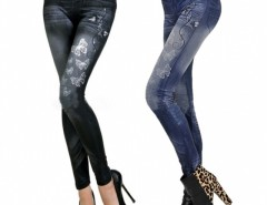 Women Butterfly Printing Imitation Jeans Leggings Pencil Pants Cndirect online fashion store China