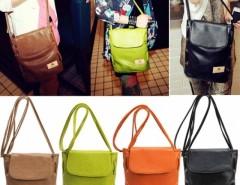 Women Candy Color Handbag Leather Cross Body Shoulder Bag Bucket Bag Cndirect online fashion store China