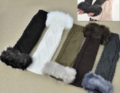 Women Faux Fur Fingerless Gloves Cndirect online fashion store China