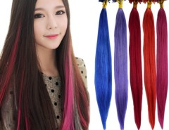 "Women Girl's 100PCS Brazilian Remy hair U-Tip Nail Tip Human Hair Extensions 22"" 5 Colors Cndirect online fashion store China"