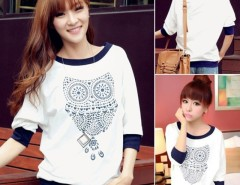 Women Half Sleeve Top Animal Pattern O-neck T-shirts Cndirect online fashion store China