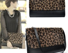 Women Horse Hair Leopard Clutch Shoulder Purse Handbag Cndirect online fashion store China