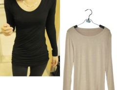 Women Long Sleeve Casual Crewneck Stretch Shirt Blouse T-Shirt Cndirect online fashion store China