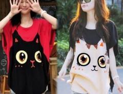 Women Loose Big Size Bat Sleeve T-shirt Cndirect online fashion store China