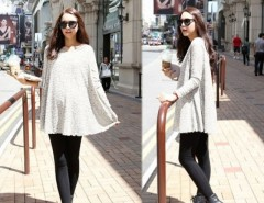 Women Round Neck Long Sleeve Pregnant Dress Cndirect online fashion store China