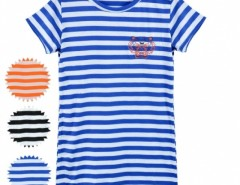 Women Stripe Short Sleeve Round Neck Long T-shirt Tops Blouse Cndirect online fashion store China
