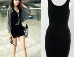 Women's  Bodycon Sleeveless Long Tank T-Shirt Tops Mini Dress Cndirect online fashion store China