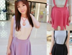 Women's Braces Short Suspender Skirt Cndirect online fashion store China