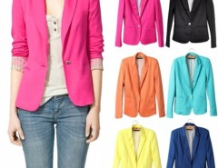 Women's Candy Color Slim Suit Jacket Blazer Cndirect online fashion store China