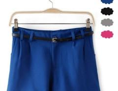 Women's Casual Candy Color Hot Pants Short Pants 4 Colors + Waist Belt Cndirect online fashion store China