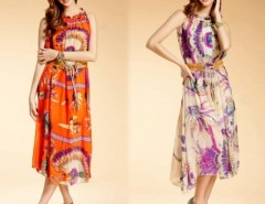Women's Chiffon Long Dress With Belt Cndirect online fashion store China