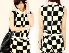 Women's Chiffon Office Set Tops + Shorts Set With Belt Cndirect online fashion store China