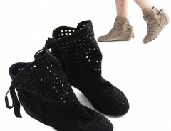 Women's Cut-outs Boots Inside High Heeled Shoes Cndirect online fashion store China