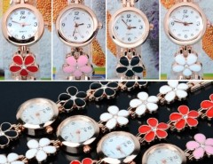 Women's Daisies Flower Rose Gold Bracelet Wrist Watch Quartz Cndirect online fashion store China