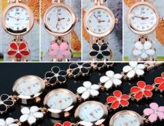 Women's Daisies Flower Rose Gold Bracelet Wrist Watch Quartz Cndirect online fashion store China