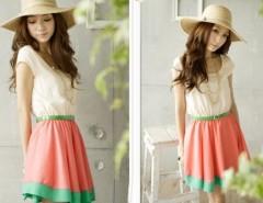Women's Dresses Colorful Stripes Party Mini Dress Club wear Free Waist Belt Cndirect online fashion store China