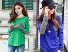 Women's Fashion Long Sleeve Shirt Tops Blouse Cndirect online fashion store China