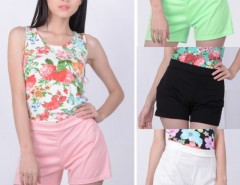 Women's Fashion Style Back Zip High Waisted Shorts Hots Pants 4 Colors Cndirect online fashion store China