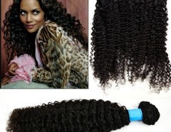 """Women's Girls Kinky Curly Indian Remy Virgin Human Hair Weft Natural Extensions 14""""-26"""" Cndirect online fashion store China"""