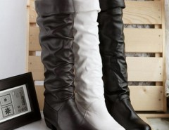 Women's Grace Devise Round Toe Flat Knee High Boots Cndirect online fashion store China