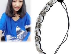 Women's Hair Accessory Elastic Crystal Stones Rhinestone Hair Band Headband Cndirect online fashion store China