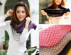Women's Knit Neck Cowl Wrap Warmers Scarf Corn Shawl Knitting Wool Circle Cndirect online fashion store China