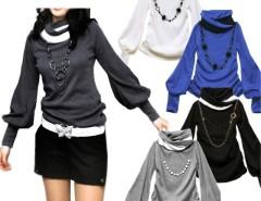 Women's Lantern Sleeve Long-sleeved T-shirts Cndirect online fashion store China