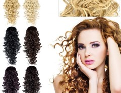 """Women's One Piece 20"""" Deep Wave Synthetic Hair Extensions 6 Colors Cndirect online fashion store China"""