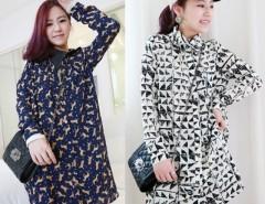 Women's Personality Chiffon Lapel Long Sleeve Long Shirt Tops Blouse With Belt 5 Colors Cndirect online fashion store China