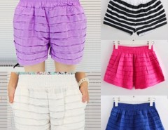 Women's Ruffled Candy Color Shorts Hot Pants Bubble Pants Cndirect online fashion store China