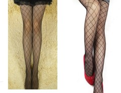Women's Sexy Grid Pattern See Through Pantyhose Stockings Cndirect online fashion store China