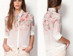 Women's Shirt Printing Summer Chiffon Shirt Top T Shirt Blouse Cndirect online fashion store China