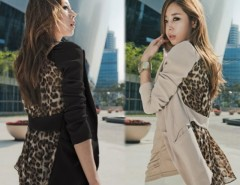 Women's Slim Leopard Chiffon Suit Blazer Outerwear Coat Cndirect online fashion store China
