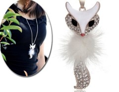 Women's Sparkling fox Pendant Necklace Sweater Chain Cndirect online fashion store China