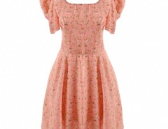 Women's Sweet Bowknot Hubble-bubble Sleeve Chiffon Floral Dress Cndirect online fashion store China