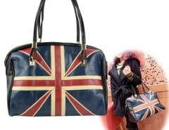 Women's Synthetic Leather England Flag Pattern Pattern Handbag Shoulder Bag Purse Tote Cndirect online fashion store China