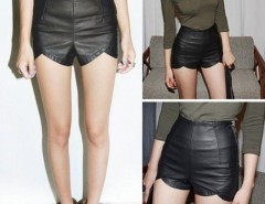Women's Synthetic Leather Shorts Casual Club Wear Cndirect online fashion store China
