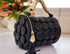 Women's Tassel Buttons Bucket Shoulder Bag Hand Bag Cndirect online fashion store China