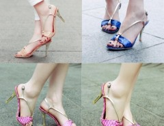 Women's serpentine Peep-toe Synthetic Leather Stiletto Heel Sandals Cndirect online fashion store China