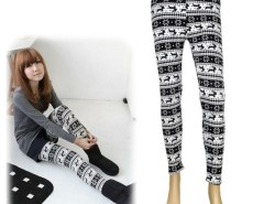 Womens Xmas Snowflake Reindeer Knitted Warm Leggings Tights winter Pants Cndirect online fashion store China
