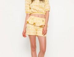 Yellow Jacquard Bubble Top Carnet de Mode online fashion store Europe France