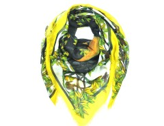 Yellow Mythical Forrest Deer Head Print Carnet de Mode online fashion store Europe France