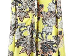 Yellow Paisley Pattern Long Sleeve Shirt Choies.com online fashion store United Kingdom Europe