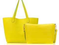 Yellow Ring Drop Tote Bag Choies.com online fashion store United Kingdom Europe