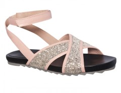 Yui Platinum Pink Flatform Criss Cross Sandals Carnet de Mode online fashion store Europe France