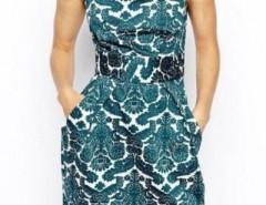 Aqua Vintage Graphic Crepe Dress OASAP online fashion store China