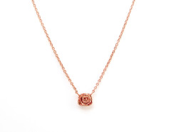Penelope Mini Rose Necklace. Yellow or Rose Gold. MrKate.com online fashion store USA